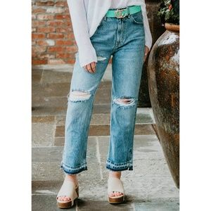 NWT Free People Lita Distressed Slim Leg Jeans